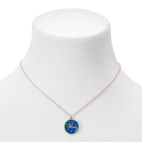 Gold Zodiac Mood Pendant Necklace - Virgo,