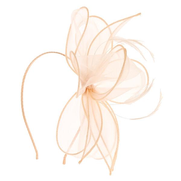 Claire's - chiffon blush bow fascinator headband - 1