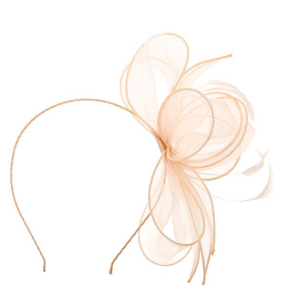 Claire's - chiffon blush bow fascinator headband - 2