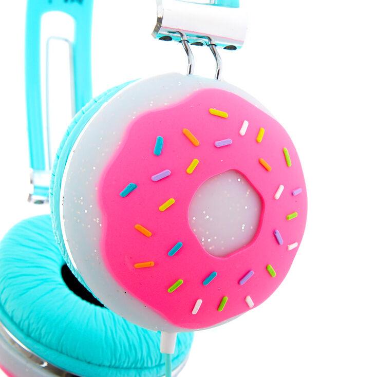 Casque donut pailleté - Turquoise,