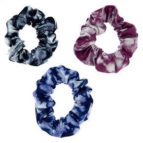 Small Cool Tie Dye Hair Scrunchies - 3 Pack,