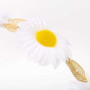 Gold Daisy Leaf Headband - Ivory,