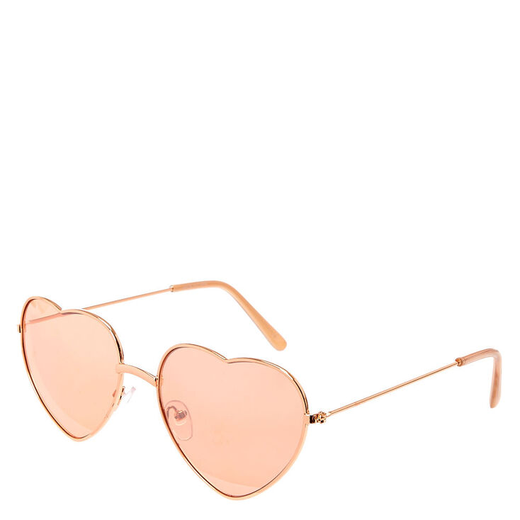 6bcc64255 Heart Sunglasses - Rose Gold | Claire's