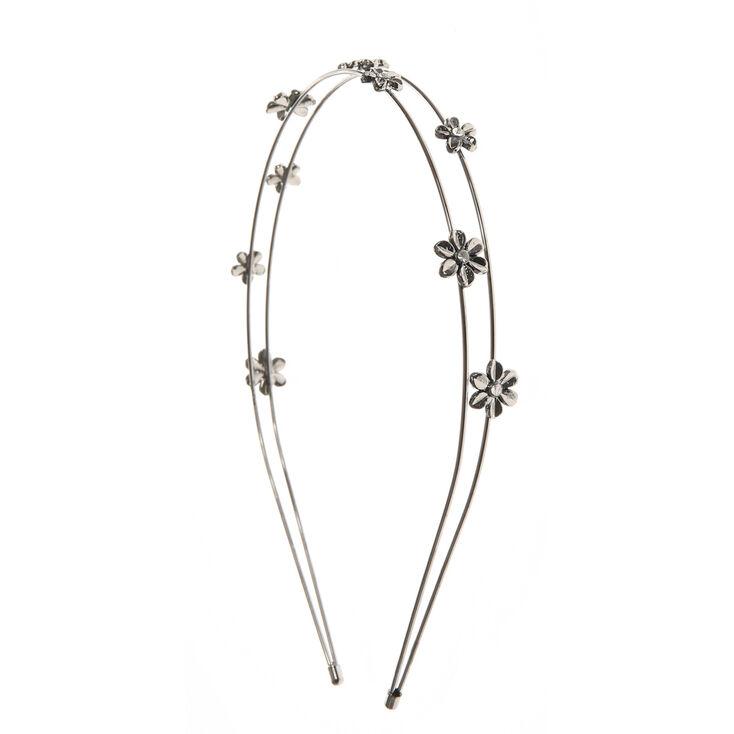 Hematite Daisy Double Row Headband,