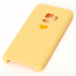 Yellow Heart Phone Case - Fits Samsung Galaxy S9,