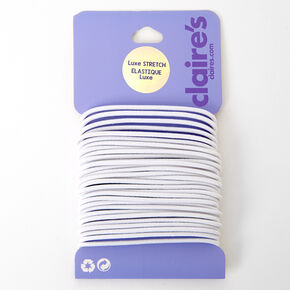 Luxe Elastic Hair Ties - White, 30 Pack,