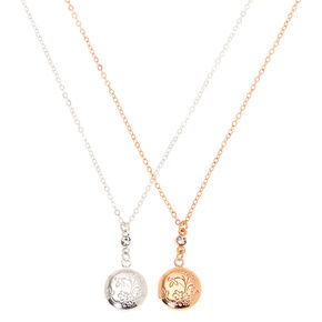 Go to Product: Mixed Metal Bouquet Locket Pendant Necklaces - 2 Pack from Claires
