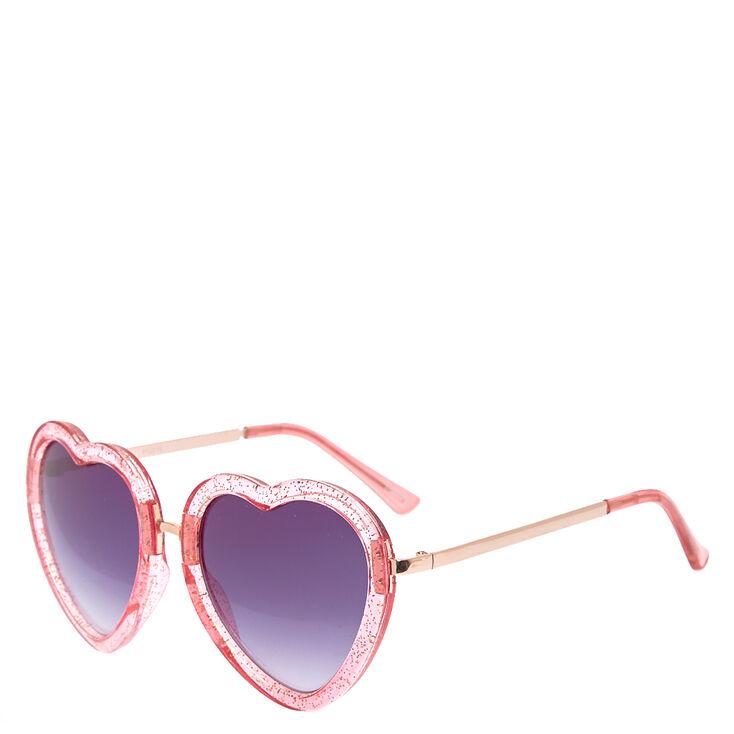 c84a3ef9c0 Glitter Pink Heart-Shaped Sunglasses