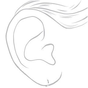 Créoles et clous d'oreilles zircon cubique d'imitation en argent - Lot de 2,