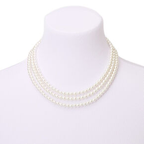 Pearl Multi Strand Necklace,
