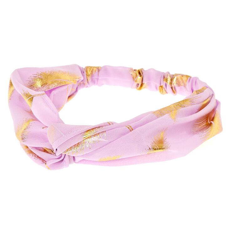 Gold Leaf Lilac Headwrap,