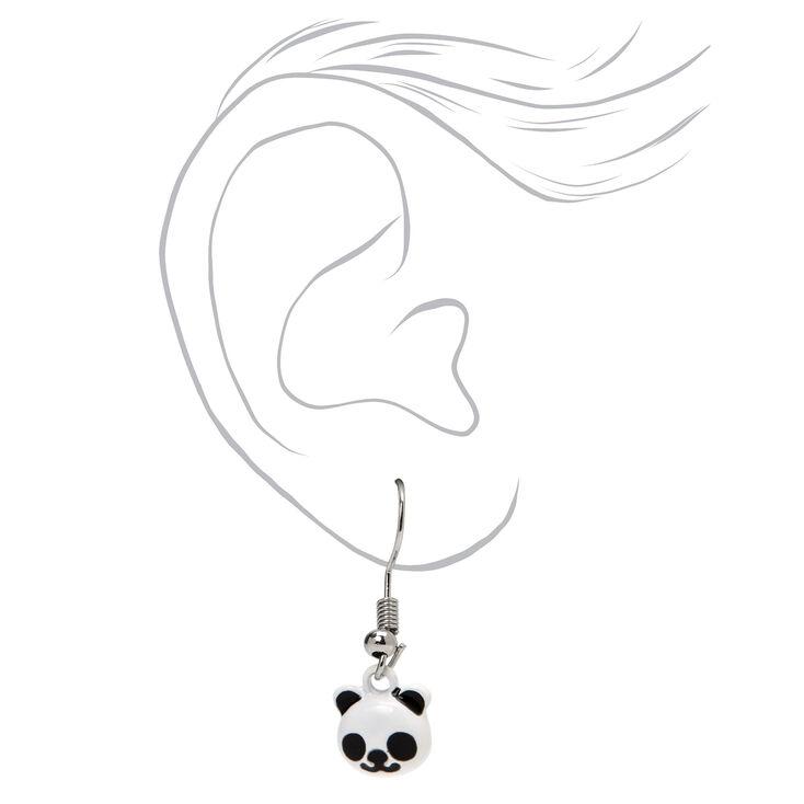 Boucles d'oreilles aux designs variés panda - Lot de 3,