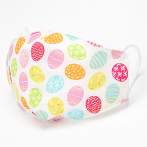 Colorful Easter Eggs Cotton Face Mask - Adult,