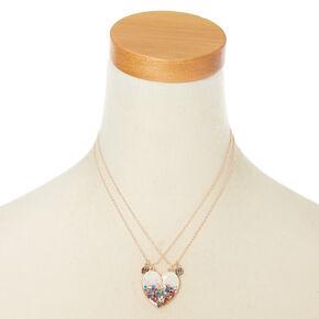 Pendant necklaces claires us best friends confetti dipped heart pendant necklaces white 2 pack aloadofball Choice Image