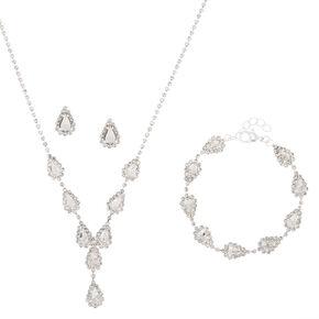 Silver Teardrop Jewellery Set - 3 Pack,