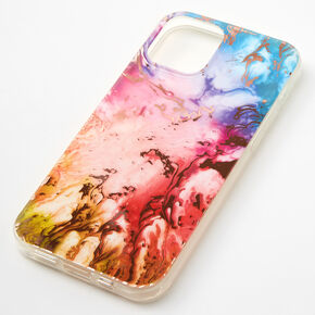 Gold Rainbow Marble Phone Case - Fits iPhone 12/12 Pro,