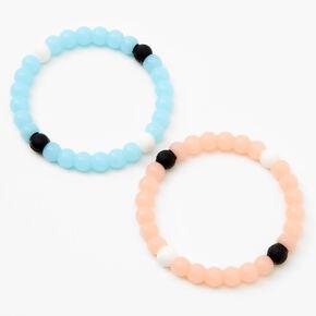 Sun & Moon Fortune Stretch Bracelets - 2 Pack,