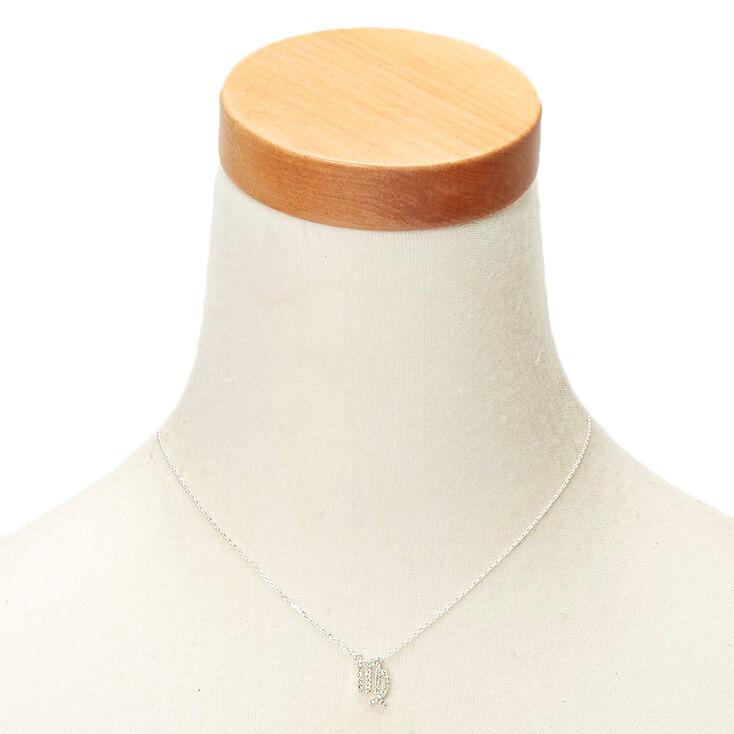 Silver Zodiac Pendant Necklace - Virgo,