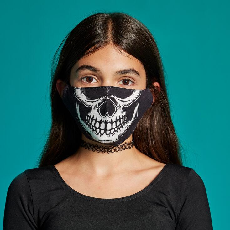 Masque en coton crâne - Taille adulte,