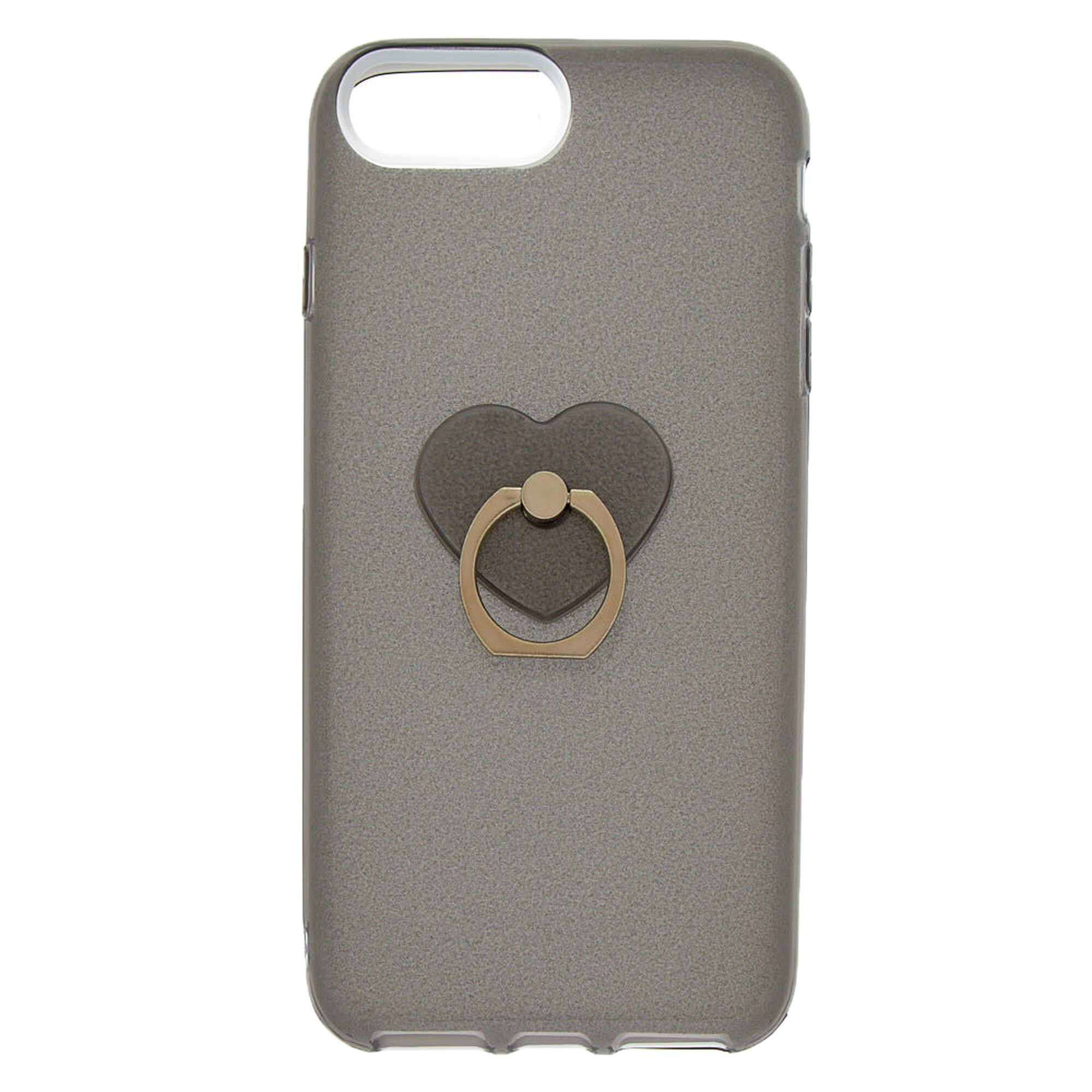 separation shoes 91703 74115 Glitter Heart Ring Holder Phone Case - Fits iPhone 6/7/8