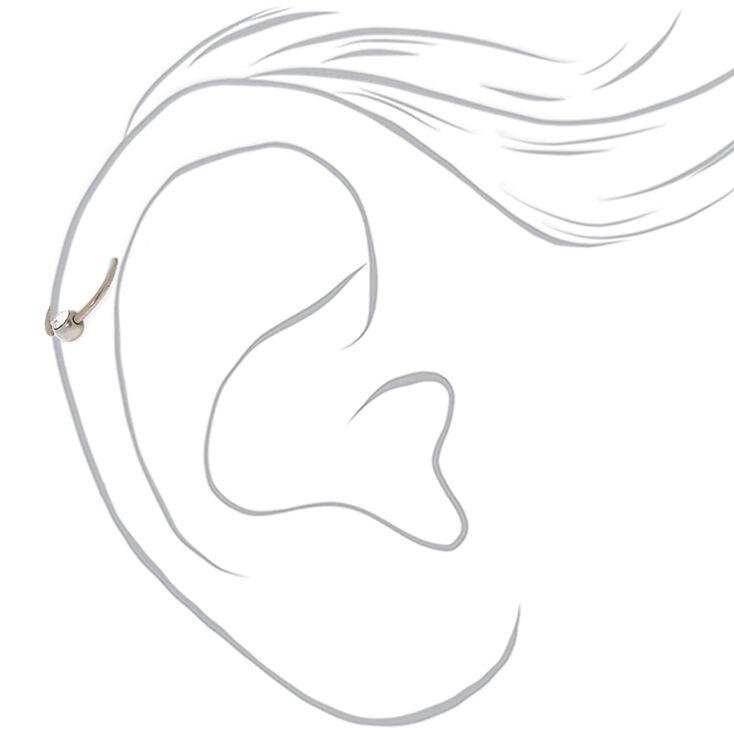 Boucle pour cartilage couleur argenté 20g couleur titané,