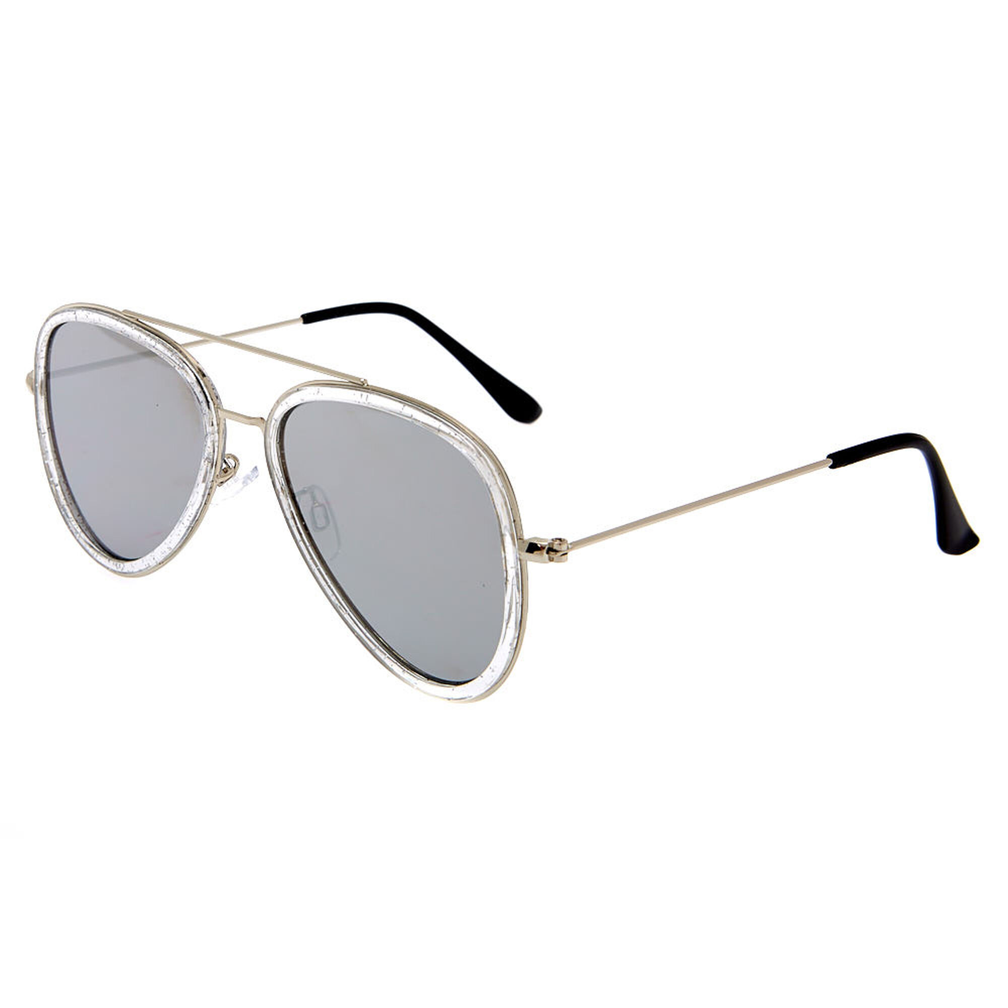 52aa0b1bb1 Metallic Frame Aviator Sunglasses - Silver