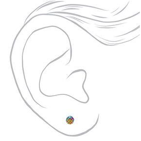 Rainbow Mix Stud Earrings - 20 Pack,