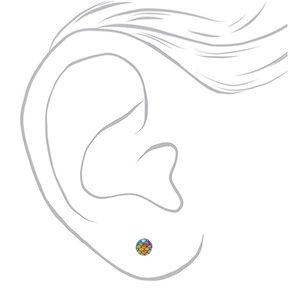 Rainbow Mix Stud Earrings - 20 Pack,