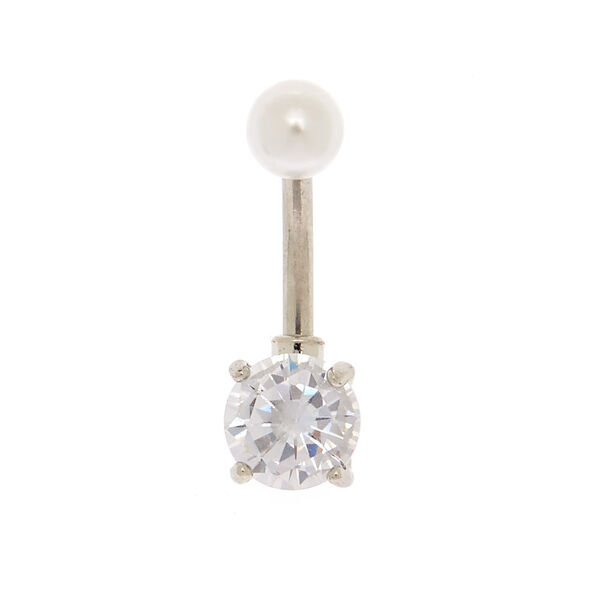Claire's - 14g pearl top belly ring - 2