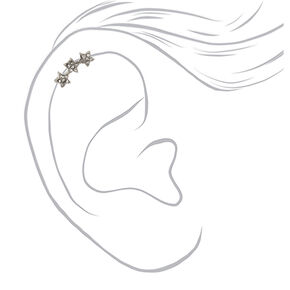 Titanium Star Curve Cartilage Earring,