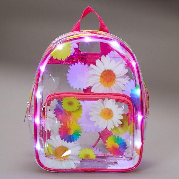 Claire's - rainbow daisy light up midi backpack - 2