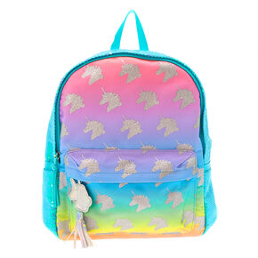 b2ed08863 Pastel Rainbow Sequin Unicorn Backpack