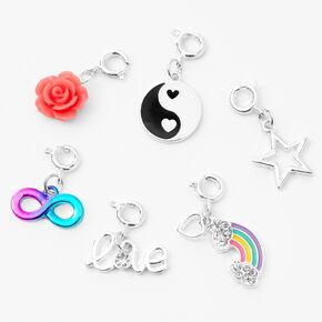 'Make Your Own' Charm Bangle Bracelet - Silver,
