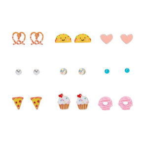 Sweet & Savory Stud Earrings - 9 Pack,