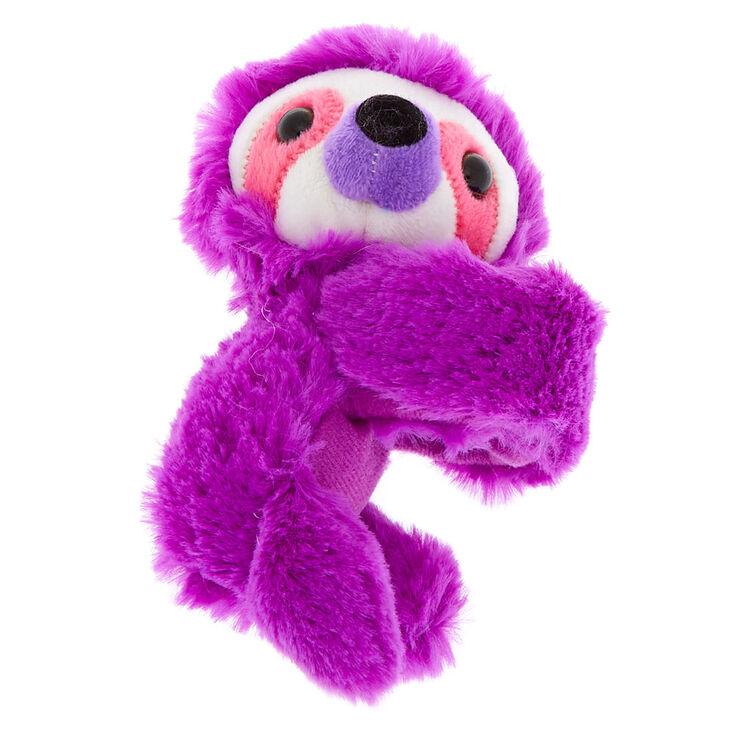 Best Stuffed Animals For Boy, Claire S Club Lovable Huggable Sloth Plush Toy Slap Bracelet Purple Claire S Us