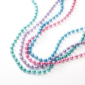 Claire's Club Pearlized Pastel Beaded Necklaces - 4 Pack,