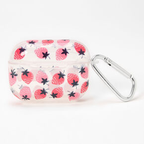 Pink Strawberry Earbud Case Cover - Compatible with Apple AirPods Pro®,