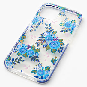 Navy Blue Floral Phone Case - Fits iPhone 12 Pro Max,