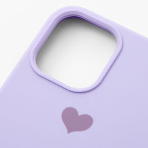 Lavender Heart Protective Phone Case - Fits iPhone 12 Pro Max,