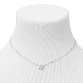 Silver Snowflake Pendant Necklace,