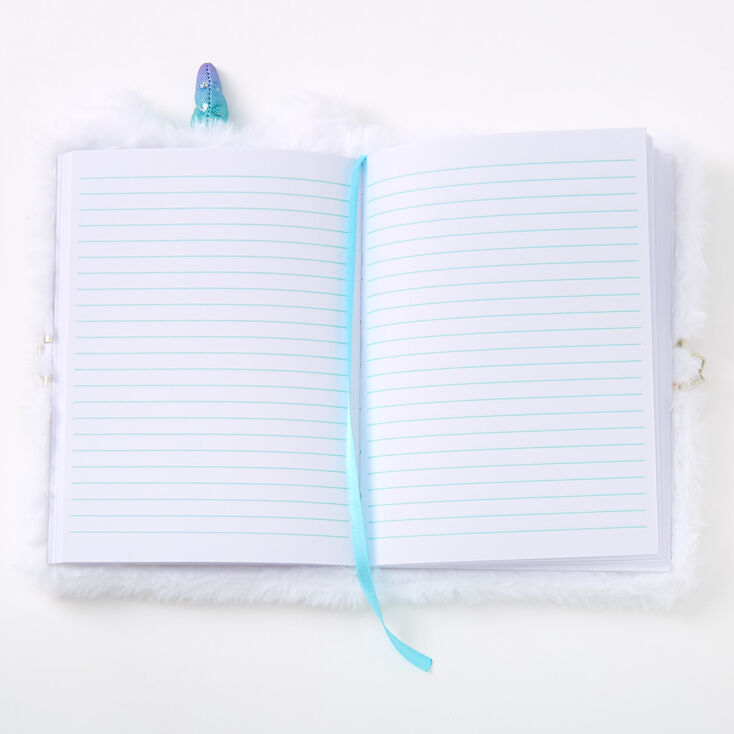 Grace the Unicorn Lock Diary - White,