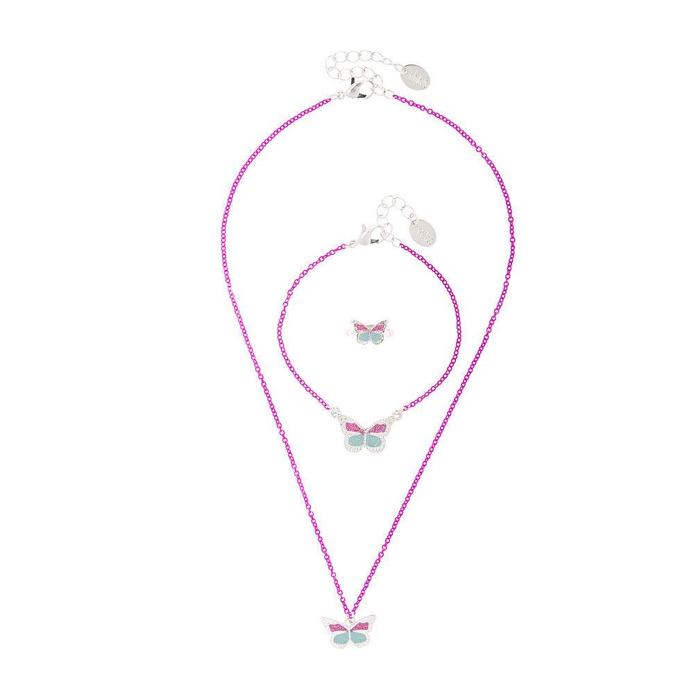 Jewelry Set Includes Necklace L.O.L Surprise Bracelet /& Rings Kids Ages 3+