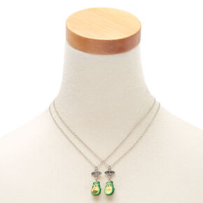 Avocado Cat Pendant Necklaces - Green, 2 Pack,
