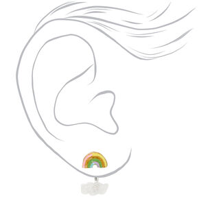 Rainbow Cloud Ear Jacket Earrings,
