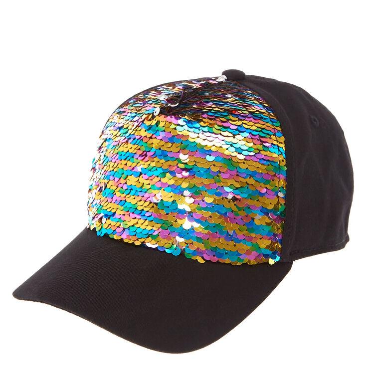 96b4d2adeffb7 JoJo Siwa™ Rainbow Reversible Sequin Baseball Cap   Claire's US