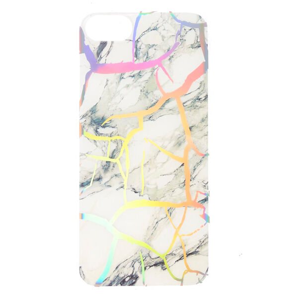 Claire's - holographiccracked marble phone case - 1