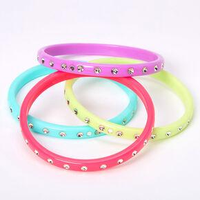 Claire's Club Pastel Bangle Bracelets - 4 Pack,