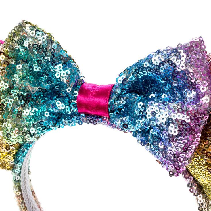 Disney® Minnie Mouse Rainbow Sequined Ears Headband,