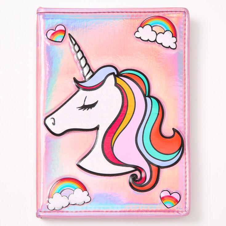 Miss Glitter the Unicorn Metallic Journal - Pink,