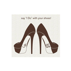 "Strass chaussure ""I Do"" enterrement de vie,"